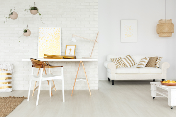 White helps make rooms feel larger